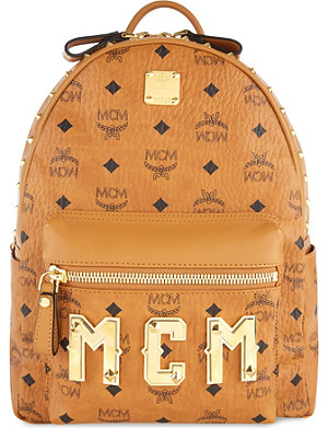 MCM Logo letters backpack small