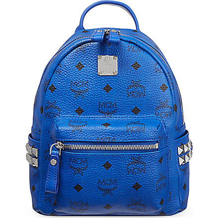 MCM Mini stud backpack (Blue