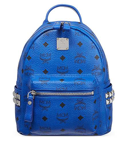 MCM Mini stud backpack (Blue