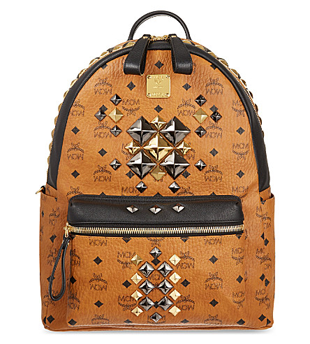 MCM Brock medium backpack (Cognac