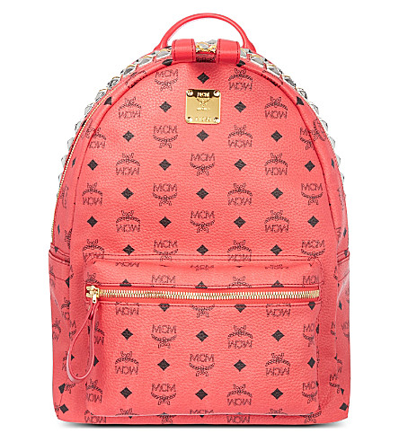 MCM Stark studded zip backpack (Red
