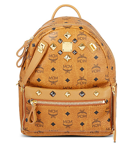MCM Small Stark backpack (Cognac