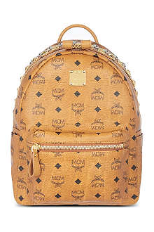 MCM Stark studded zip small backpack