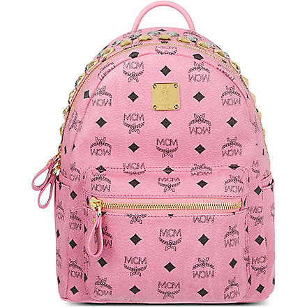 MCM Stark studded zip small backpack (Pink
