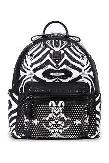MCM Funky Zebra small leather backpack