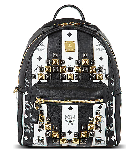 MCM Road to Paradise backpack (White   black