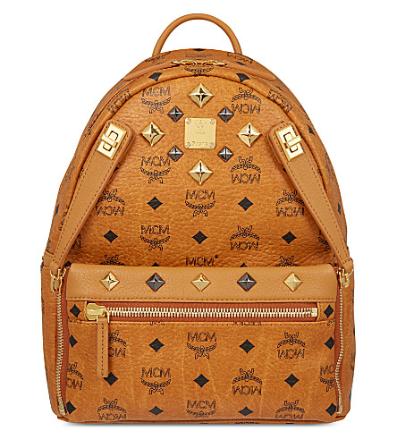 MCM Dual Stark small backpack (Cognac