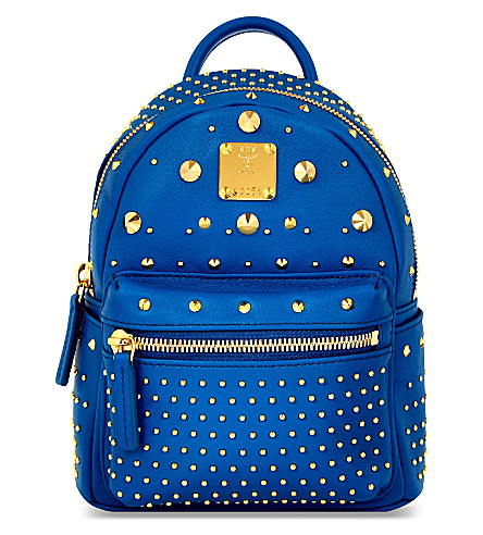 MCM Stark special Bebe-Boo leather backpack (Munich blue