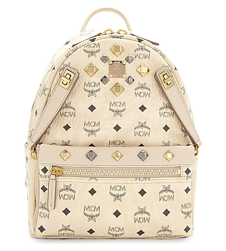 MCM MCM dual stark small backpack (Beige