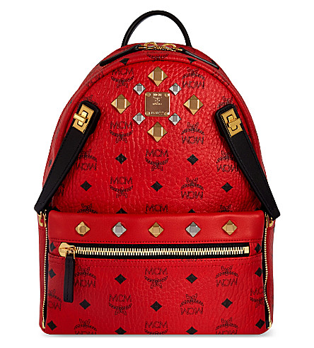 MCM MCM dual stark small backpack (Ruby+red
