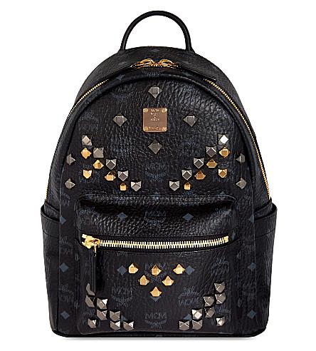 MCM Stark stud detail small backpack (Black
