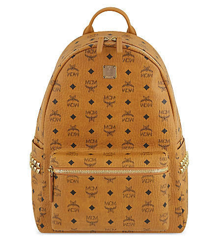 MCM Stark Classic medium backpack (Cognac