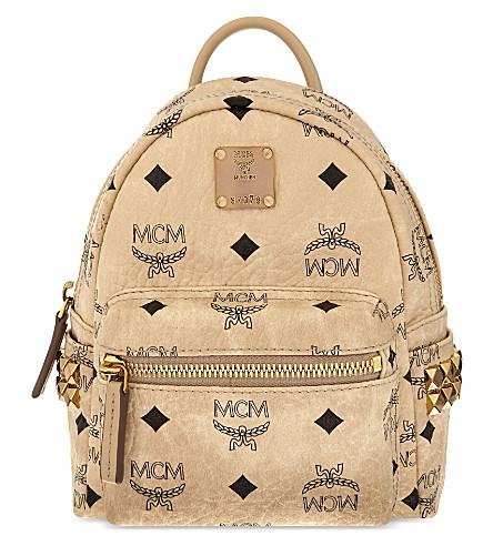 MCM Stark mini backpack (Beige