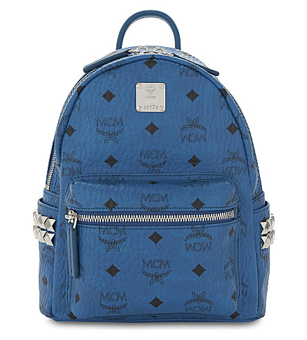 MCM Stark mini backpack (Munich+blue