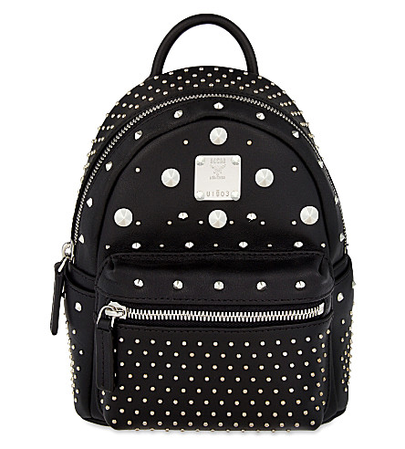 MCM Stark special bebe-boo leather backpack (Black