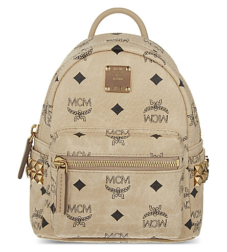 MCM Stark extra-mini backpack (Beige