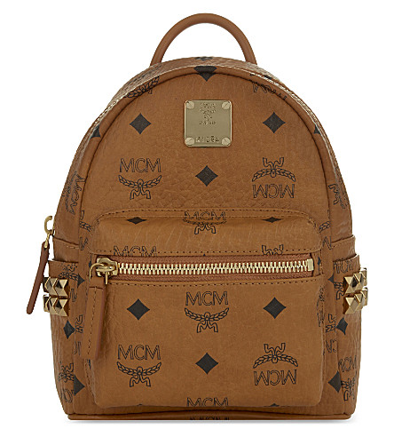 MCM Stark extra-mini backpack (Cognac