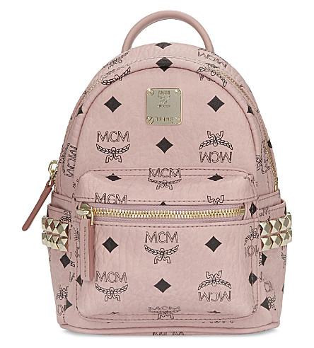 MCM Mini stark coated canvas backpack (Soft+pink