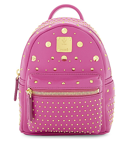MCM Stark Special X-mini leather backpack (Electric pink