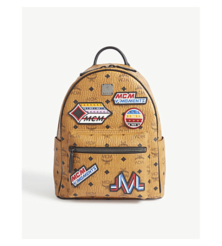 MCM Stark victory patch small backpack (Cognac