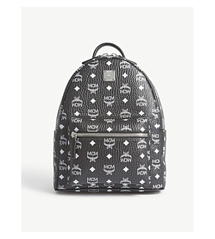 MCM Stark small Visetos backpack (Black