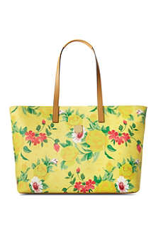 MCM Large flower shopper