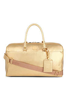 MCM Shiny gold weekend bag
