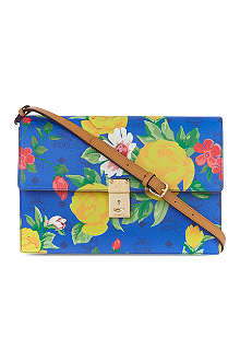 MCM Flower shoulder clutch