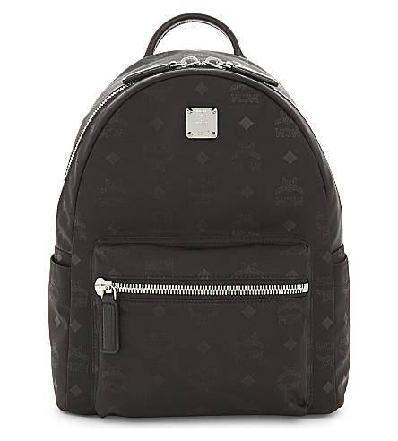 MCM Dieter monogrammed nylon backpack (Black