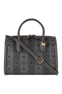 MCM Striped Boston medium tote