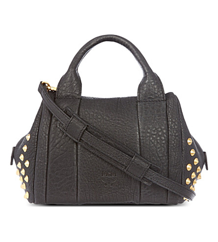 MCM Keana lambskin boston mini tote (Black