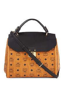 MCM Visetos medium leather satchel