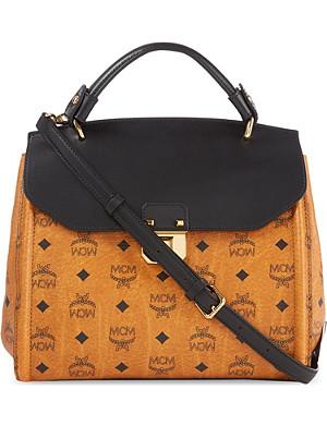 MCM Visetos medium leather satchel