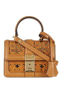 MCM Visetos studded satchel