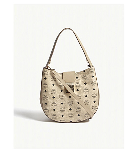 MCM Patricia medium Visetos leather hobo bag (Beige