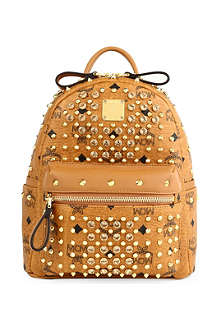 MCM Visetos crystal leather backpack