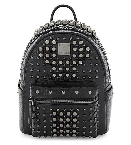 MCM Stark pearl stud mini backpack (Black