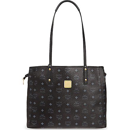 MCM Medium reversible shopper (Black/ jaguar grey