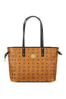 MCM Reversible leather shopper bag