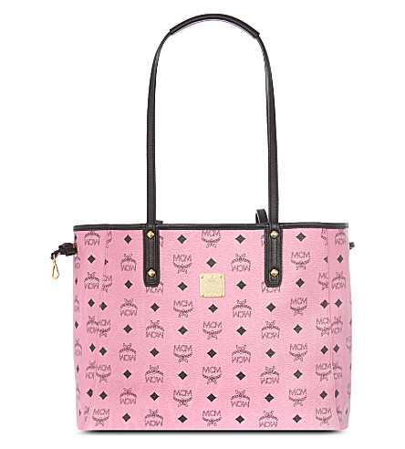 MCM Reversible medium shopper (Pink