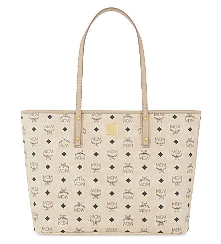 MCM Anya coated canvas shopper (Beige