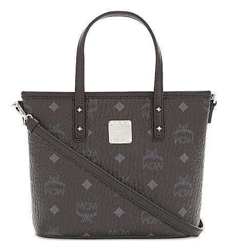 MCM Anya coated canvas mini shoulder bag (Black