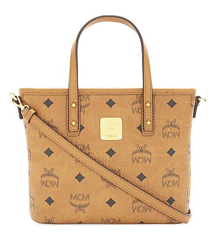 MCM Anya coated canvas mini shoulder bag (Cognac