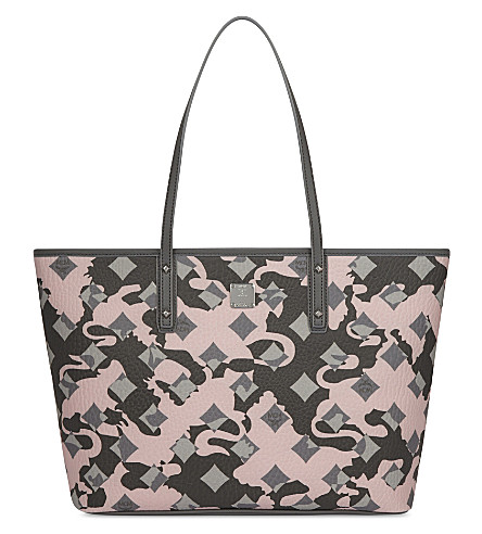 MCM Anya leather tote (Camo+pink+blush