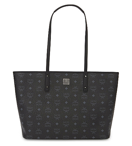 MCM Anya medium visetos tote (Black