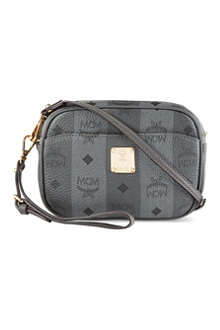 MCM Striped leather cross-body bag