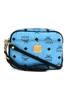 MCM Visetos mini leather cross-body bag