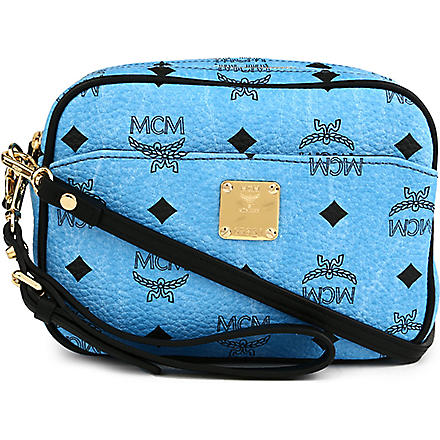 MCM Visetos mini leather cross-body bag (Blue