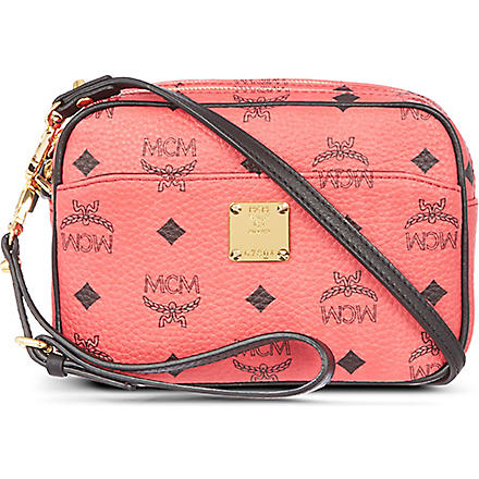 MCM Visetos mini cross-body bag (Red