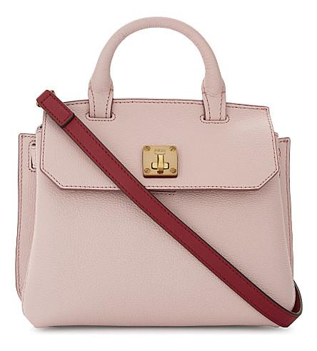 MCM Milla leather cross-body bag (Pale mauve